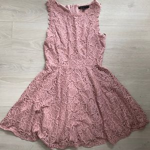 Pink lace dress - worn once!!